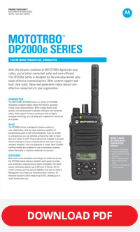 MOTOTRBO-dp2000e series spec sheet