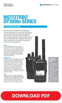 MOTOTRBO dp3000e series spec sheet
