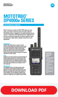 MOTOTRBO DP4000e Series brochure