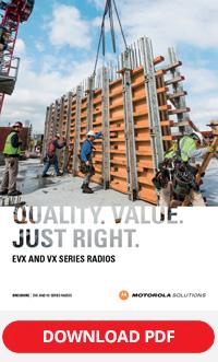 motorola solutions evx / vx series brochure
