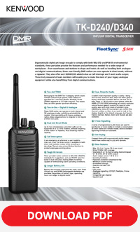 Kenwood TK-D240/D340 Brochure