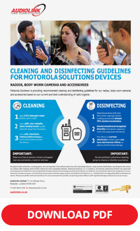 motorola cleaning and disinfecting guidelines
