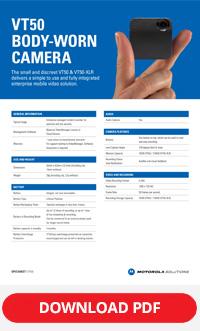 Motorola vt50 spec sheet