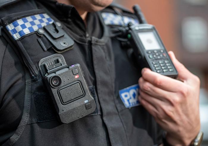 police with motorola body-worn camera